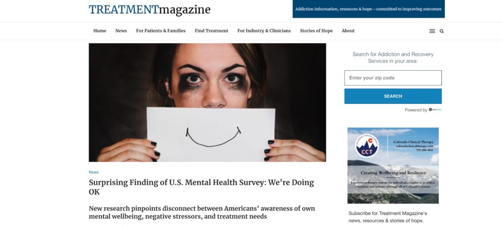 Surprising Finding of U.S. Mental Health Survey