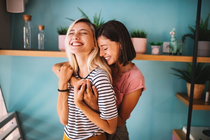 lesbian couple for womens health article
