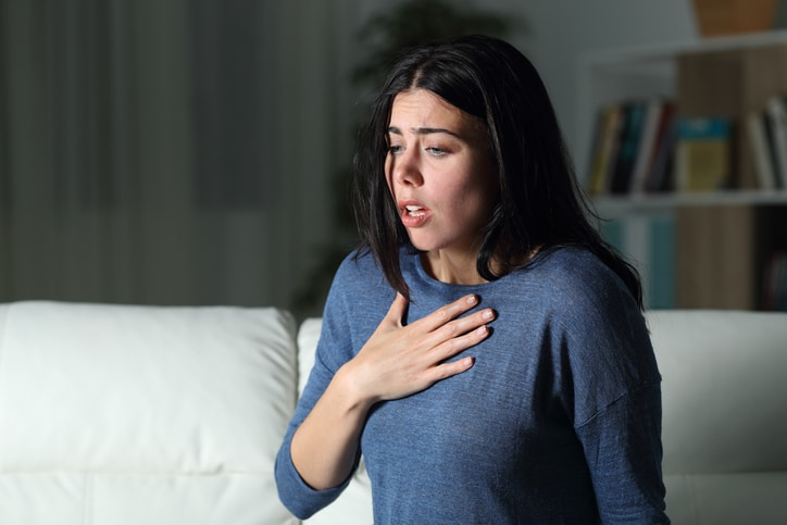 woman suffering from severe anxiety